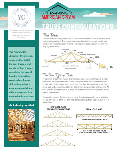 Truss Configurations flyer